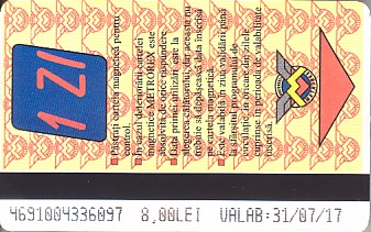 Communication of the city: București (Rumunia) - ticket abverse
