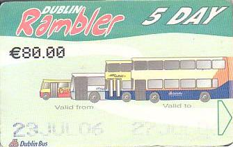 Communication of the city: Dublin (Irlandia) - ticket abverse