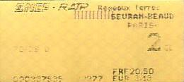 Communication of the city: Paris (Francja) - ticket abverse