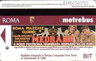 Communication of the city: Roma (Włochy) - ticket abverse