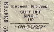 Communication of the city: Scarborough (Wielka Brytania) - ticket abverse
