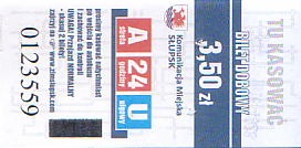Communication of the city: Słupsk (Polska) - ticket abverse