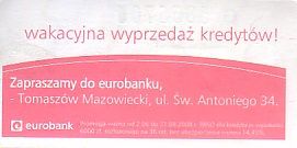 Communication of the city: Tomaszów Mazowiecki (Polska) - ticket reverse
