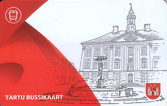 Communication of the city: Tartu (Estonia) - ticket abverse